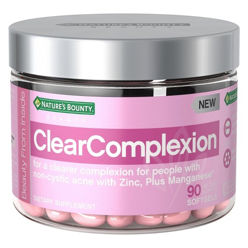 Nature's Bounty Clear Complexion Dietary Supplement Softgels - 90ct - image 1 of 4
