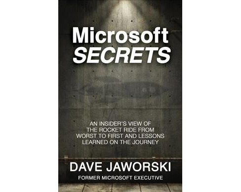 Microsoft Secrets : An Insider's View of the Rocket Ride from Worst to First and Lessons Learned - image 1 of 1