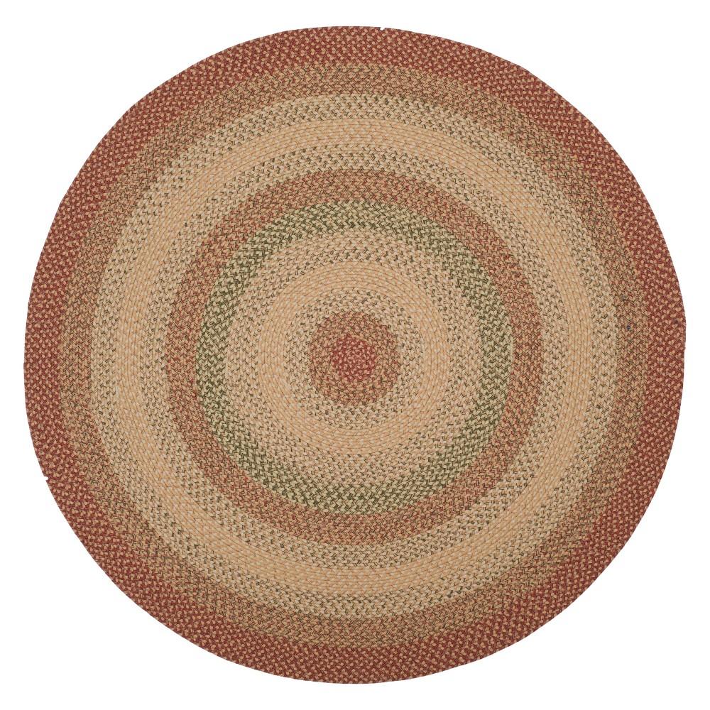 Samuel Area Rug - Rust (Red) (8' Round) - Safavieh