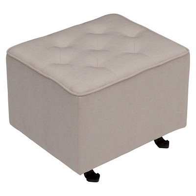 Delta Children® Emma Diamond Tufted Gliding Ottoman - Flax