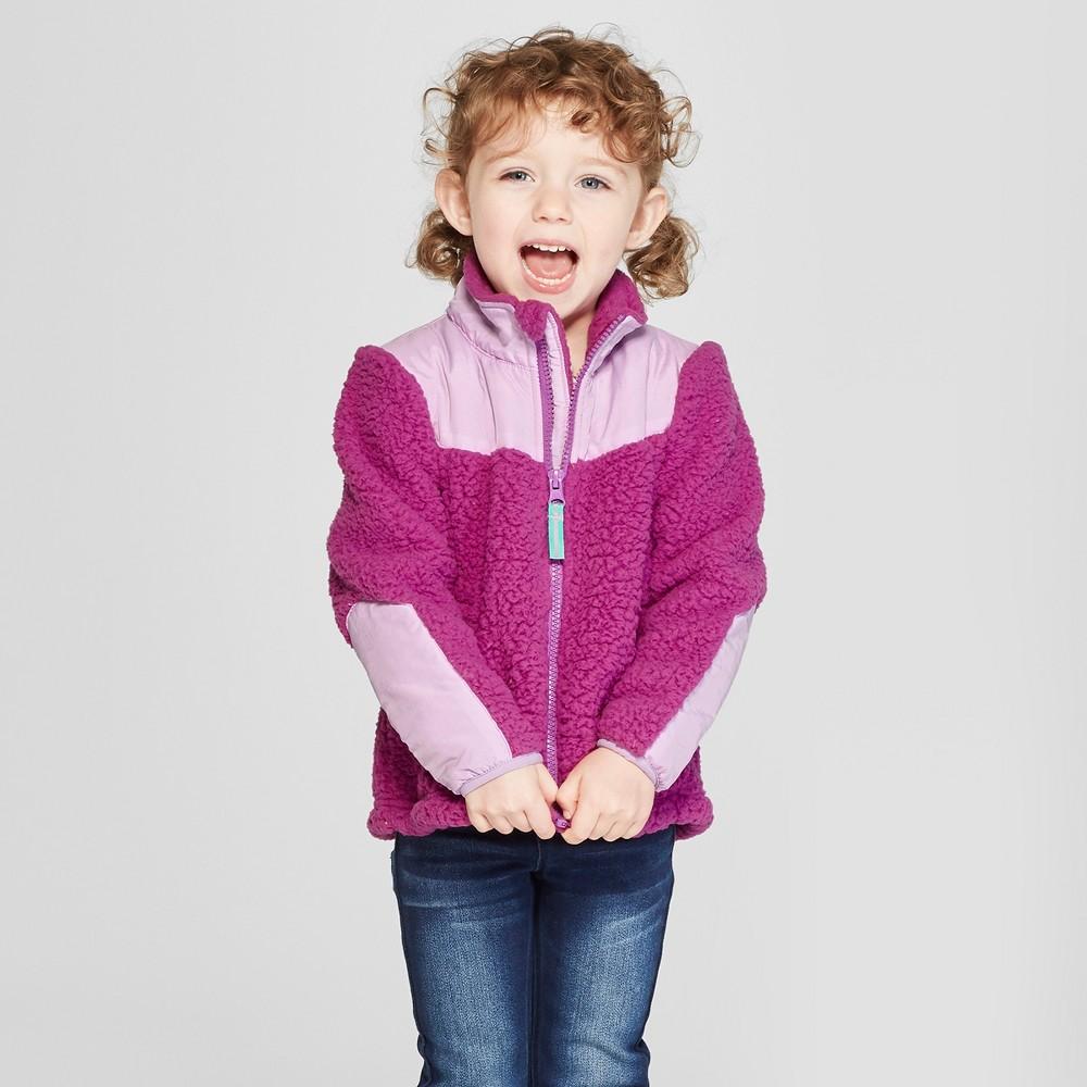 Toddler Girls' Zip-Up Fleece Jacket - Cat & Jack Purple 3T