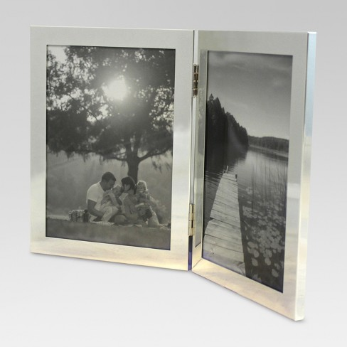"""5""""x7"""" 2-Opening Hinged Metal Frame - Threshold™ - image 1 of 4"""