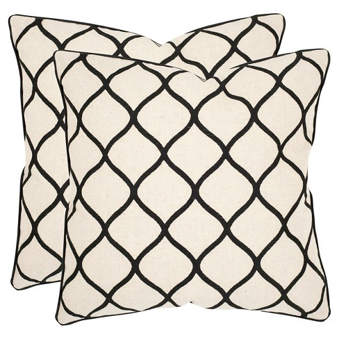 "Black Set Throw Pillow (18""x18"") - Safavieh® - image 1 of 1"