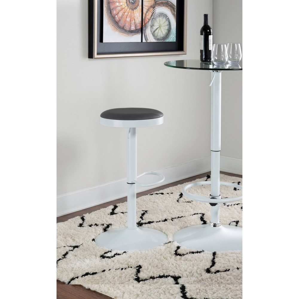 "Image of ""24.25"""" - 32.5"""" Yokeley Adjustble Stool White/Gray - Powell Company"""