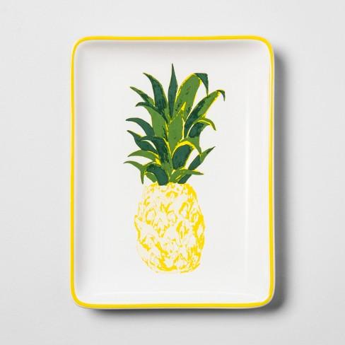 Rectangle Jewelry Storage Tray Pineapple - Opalhouse™ - image 1 of 2