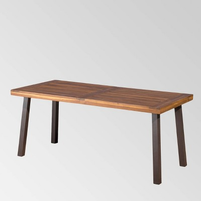 Sparta Acacia Wood Rectangle Dining Table - Dark Brown - Christopher Knight Home