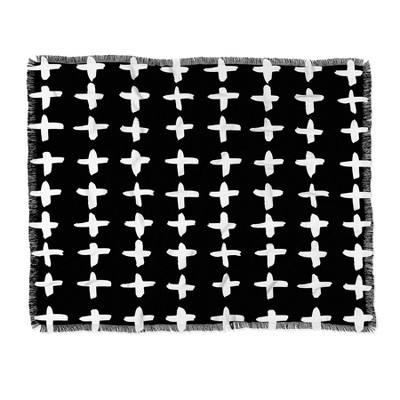 "60""X50"" Kal Barteski Plus Throw Blanket Black - Deny Designs"