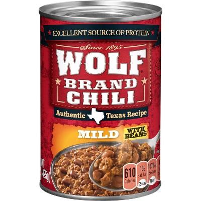 Wolf Chili Mild Original 15z