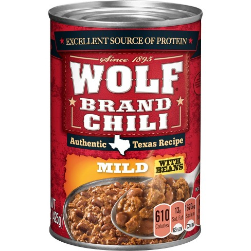 Wolf Brand Mild Chili with Beans - 15z - image 1 of 4