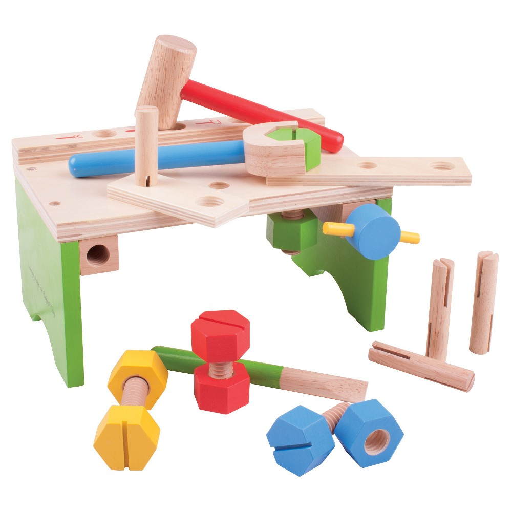 Bigjigs Toys Carpenter's Bench Wooden Role Play Toy