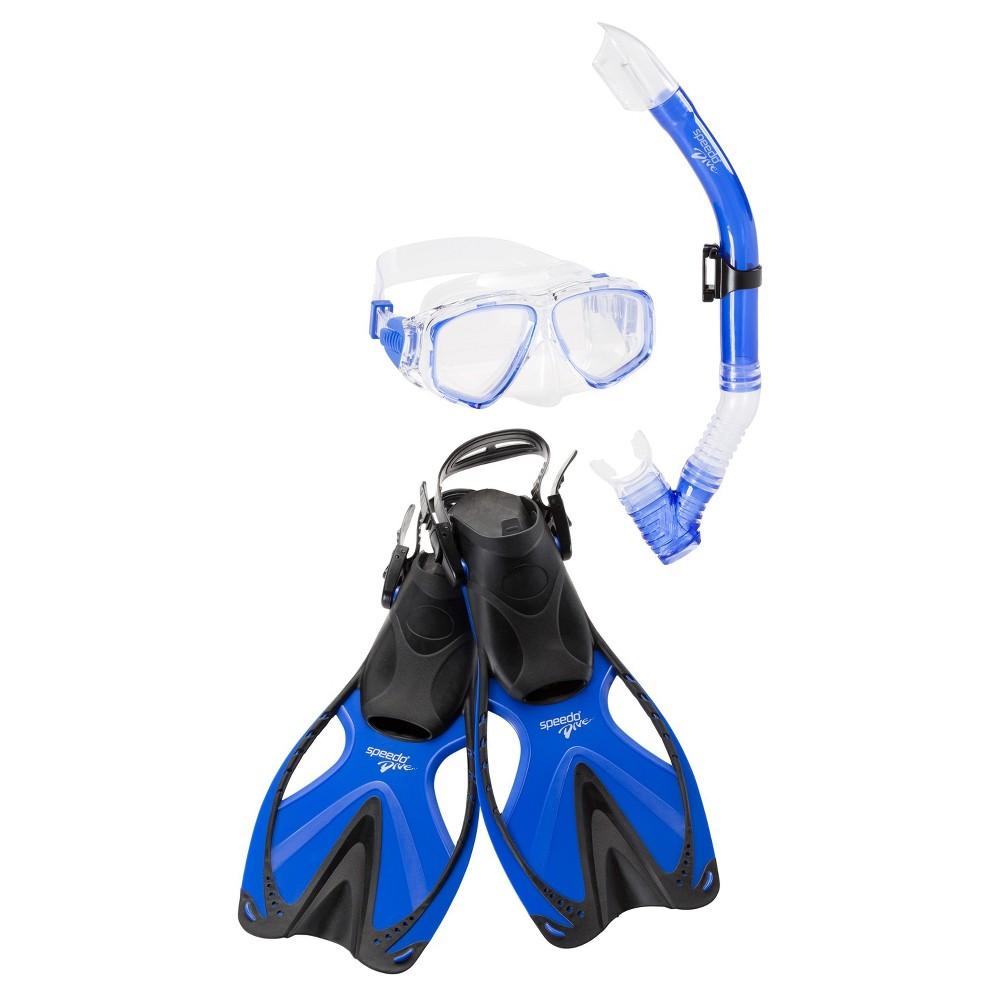 Speedo Junior Reefscout Snorkel Set Blue Large/Extra Large - 4pc
