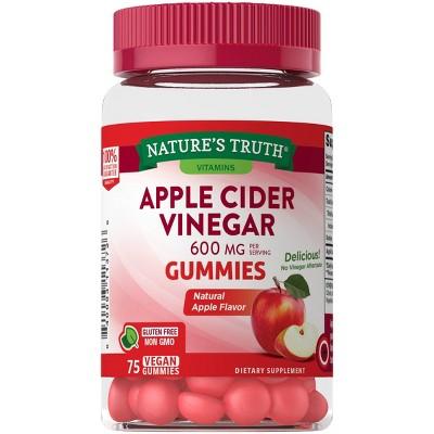 Nature's Truth Apple Cider Vinegar 600mg Gummies - Apple - 75ct