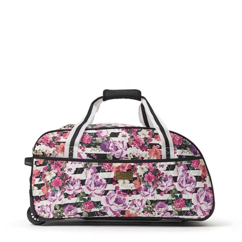 """Macbeth 21.5"""" Out of Office Rolling Duffel Bag - Floral/Stripes - image 1 of 4"""