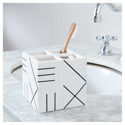 Bathroom Catchall Countertop Storage White/Black - Nate Berkus™
