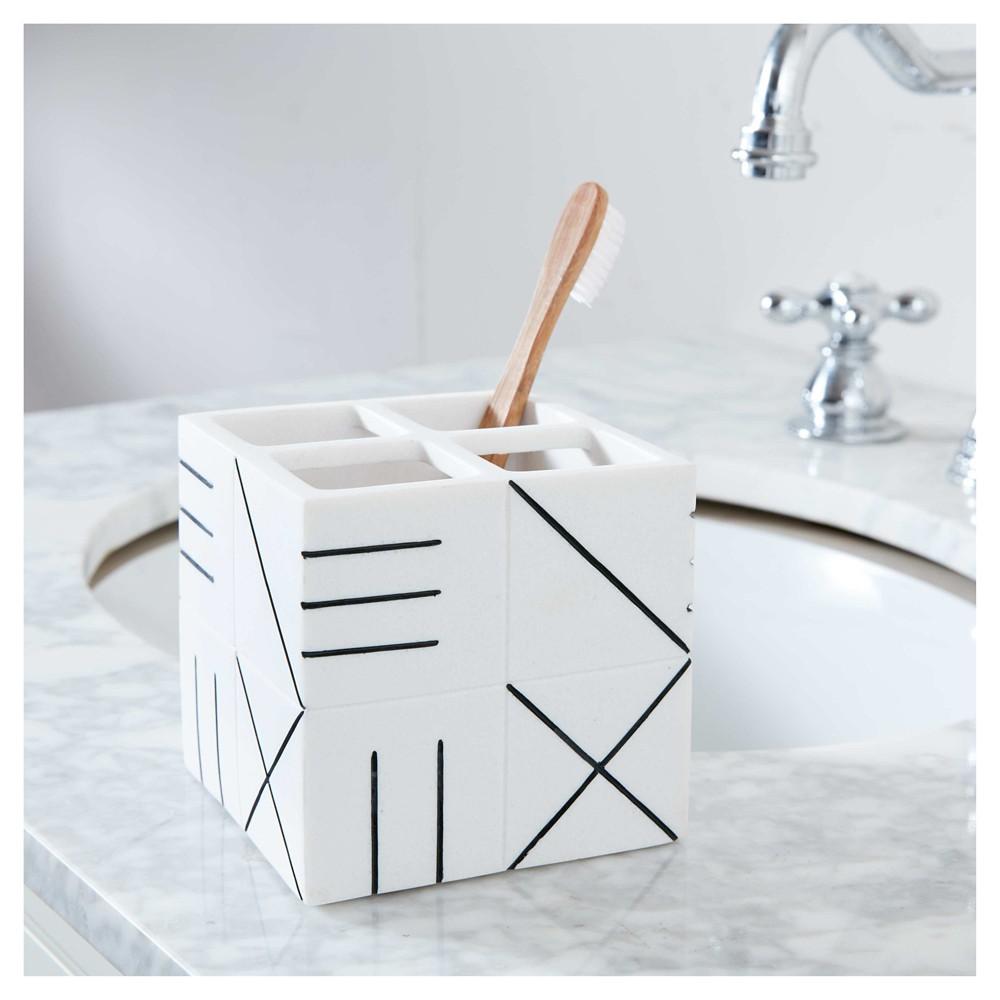 Image of Bathroom Catchall Countertop Storage White/Black - Nate Berkus