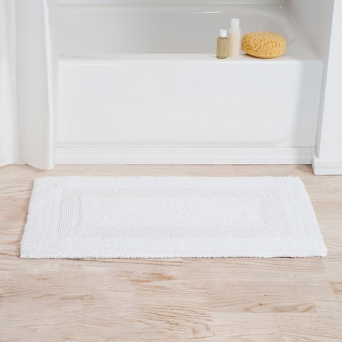 Tufted 100% Cotton Bath Mat Set White - Yorkshire Home - image 1 of 5