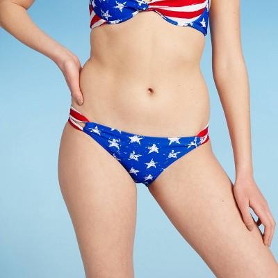 Juniors' Hipster Bikini Bottom - Xhilaration™ Stars and Stripes