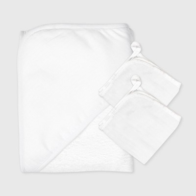 Honest Baby 3pk Organic Cotton Towel Set