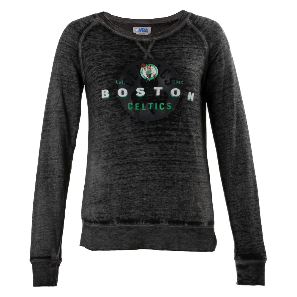 Boston Celtics Women's Retro Logo Burnout Crew Neck Sweatshirt S, Multicolored