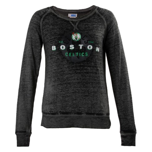 NBA Boston Celtics Women's Retro Logo Burnout Crew Neck Sweatshirt - image 1 of 2