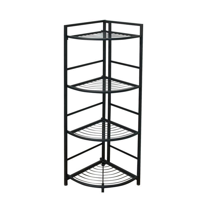 Flipshelf 4 Tier Corner Wire Shelf Unit Black - image 1 of 8