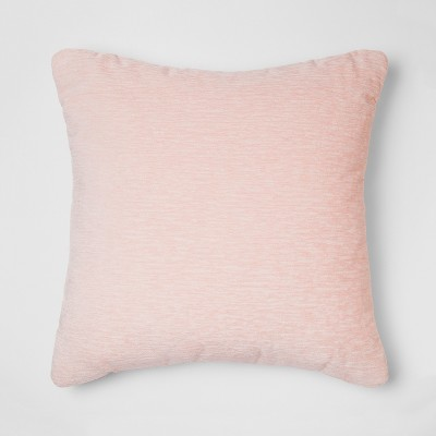 Chenille Square Throw Pillow Pink - Threshold™