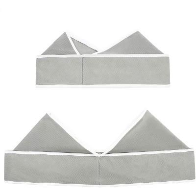 "Set of 6 Gray Foldable Drawer Dividers, Fabric Closet Organizer Under Bed Storage Box for Underwear Bra Sock 11.6""x6.5"""