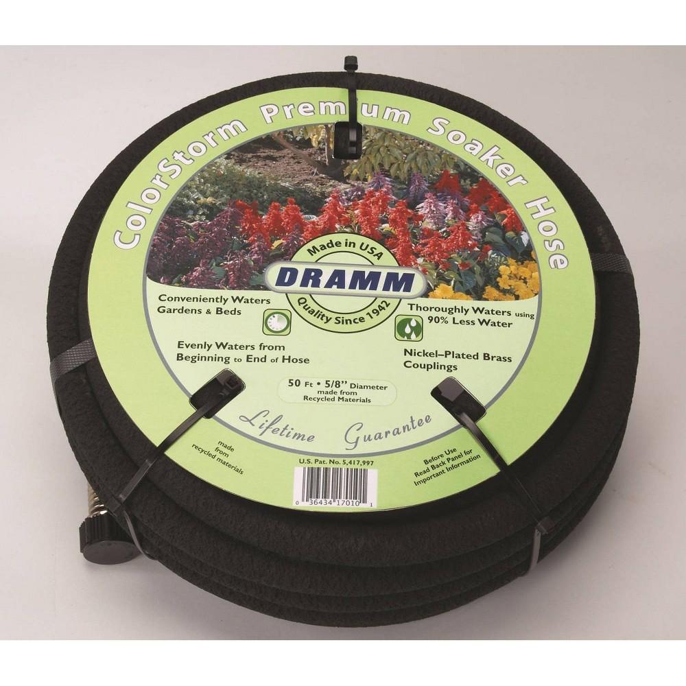 Image of 50' ColorStorm Premium Soaker Hose Black - Dramm