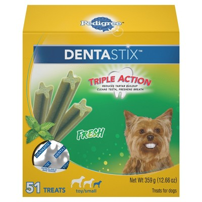 PEDIGREE DENTASTIX Fresh Toy/Small Treats for Dogs 12.66 ozs 51ct
