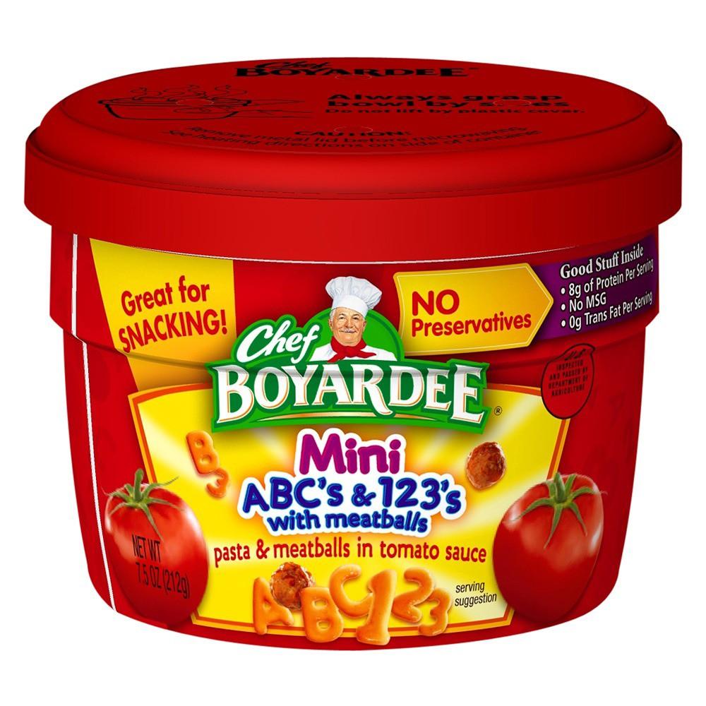 Chef Boyardee Mini-Bites ABC's & 123's with Meatballs 7.5 oz