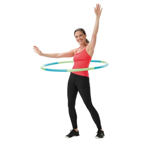 empower cardio core more 3lb weighted hoop blue green target
