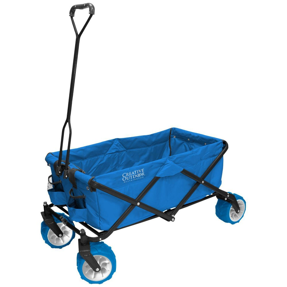 Image of Creative Outdoor Distributor All Terrain Folding Wagon - Blue