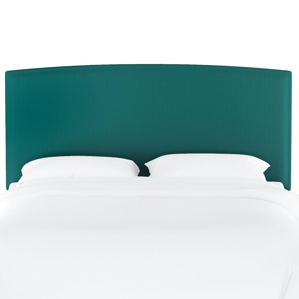 Upholstered Headboard Twin Velvet Teal Opalhouse 8482