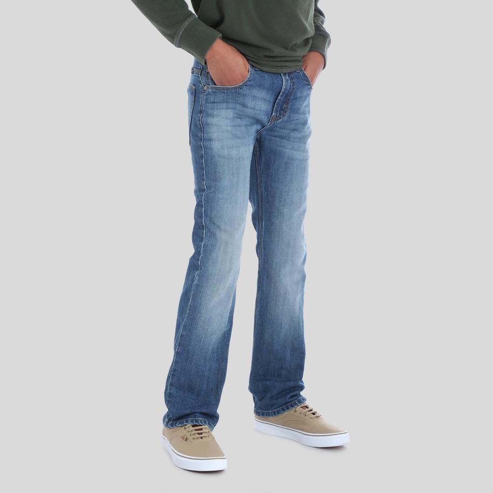 Wrangler Boys' 5pkt Slim Straight Jeans Cool Blue 10 Husky