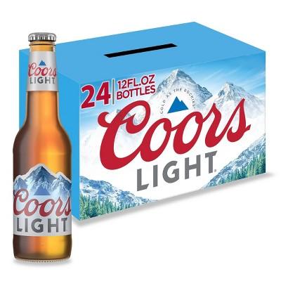 Coors Light Beer - 24pk/12 fl oz Bottles