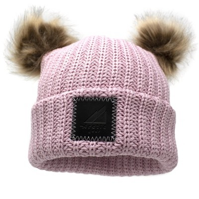 Arctic Gear Toddler Winter Hat Cotton Cuff Hat with Double Poms