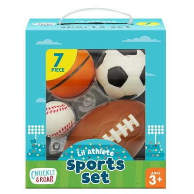 Chuckle & Roar Lil Athlete Sports Balls Role Play Set - 4pk