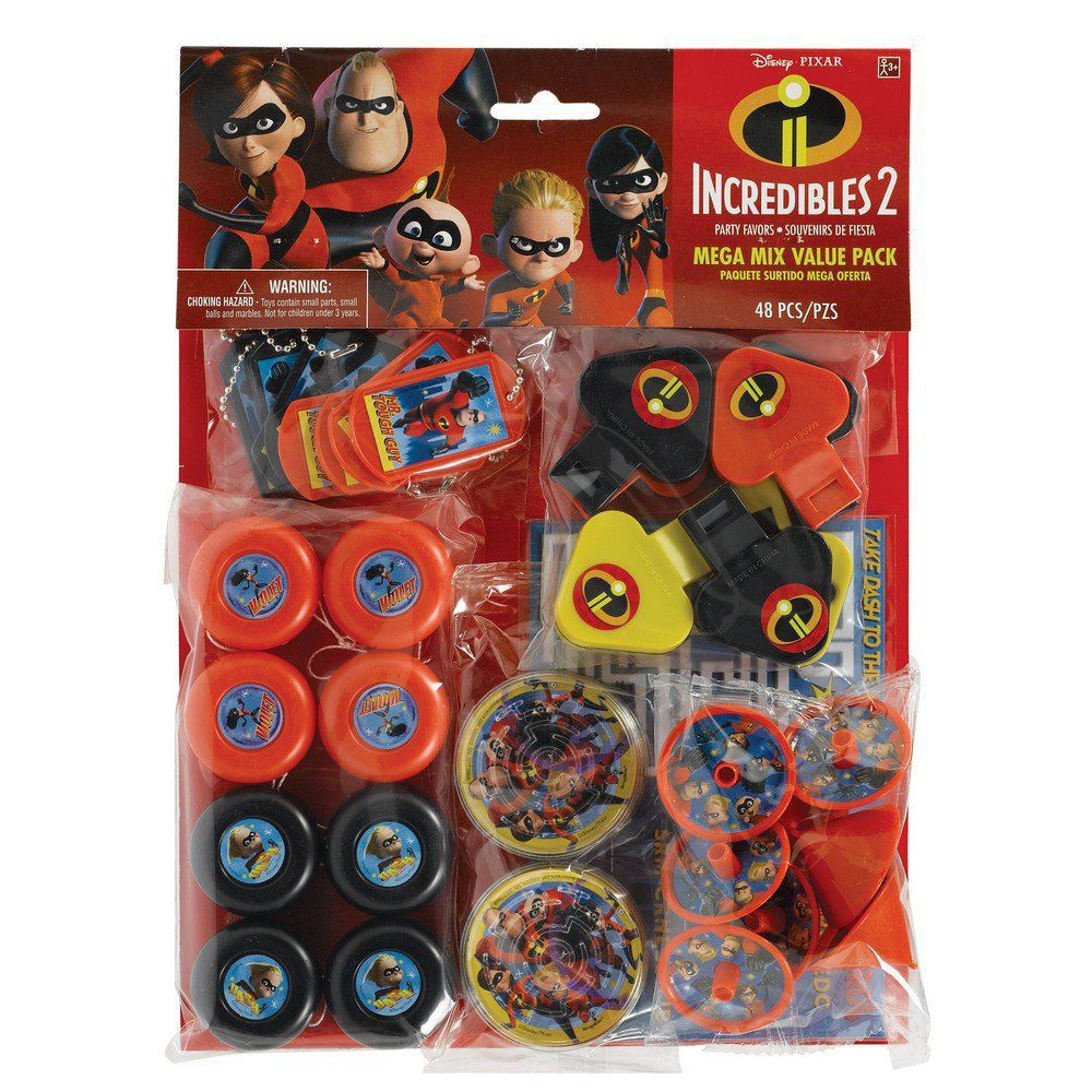 The Incredibles 2 48ct Favor Pack, Multi-Colored