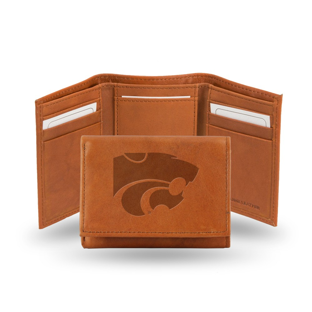 Kansas State Wildcats Rico Industries Embossed Leather Trifold Wallet