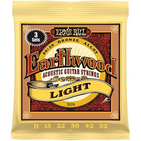 Ernie Ball 3004 Earthwood 80/20 Bronze Light Acoustic Guitar Strings 3-Pack - image 1 of 1