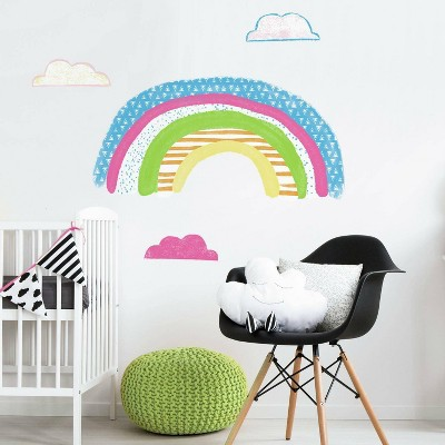RoomMates Pattern Rainbow Peel and Stick Giant Wall Decal