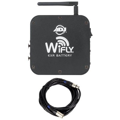 American DJ WiFLY EXR Wireless DMX Battery Transceiver and 25 Foot DMX Cable