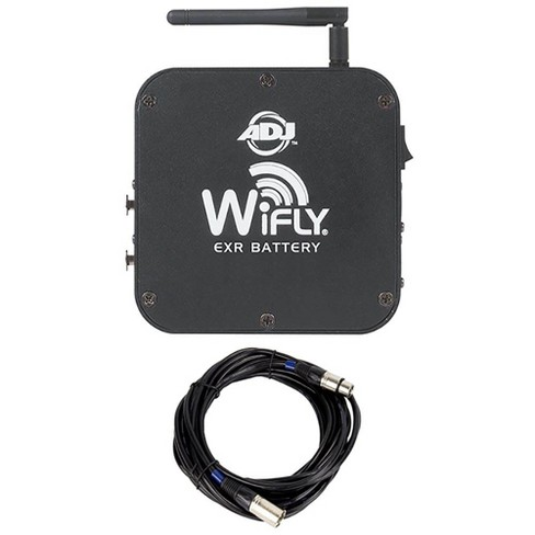 American DJ WiFLY EXR Wireless DMX Battery Transceiver and 25 Foot DMX Cable - image 1 of 4