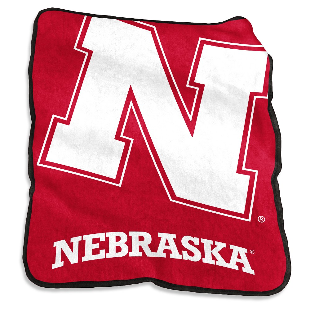 NCAA Nebraska Cornhuskers Logo Brands Raschel Throw Blanket
