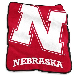 NCAA Logo Brands Raschel Throw Blanket