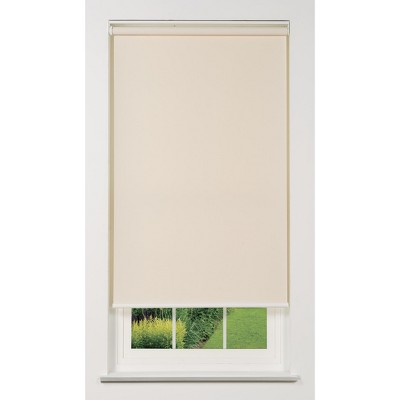 Linen Avenue Cordless 1% Solar Screen Standard Roller Shade, White, Fawn, and Sand