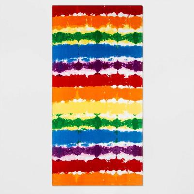 Pride Gender Inclusive Rainbow Tie-Dye Beach Towel