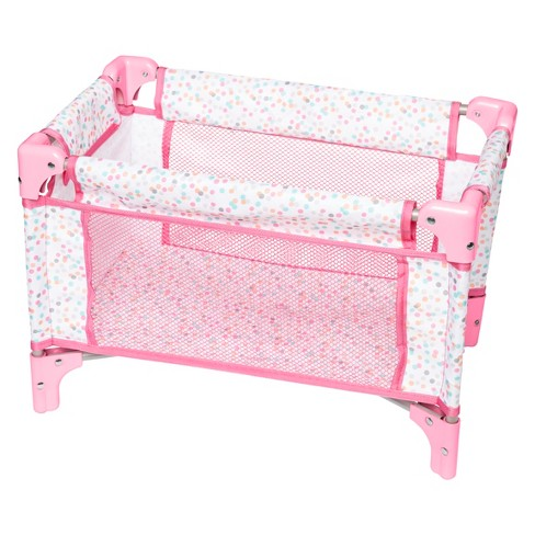 Perfectly Cute Baby Doll Folding Crib & Playpen - image 1 of 8