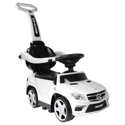 Best Ride On Cars Toddler 4-in-1 Mercedes Push Car Stroller w/ LED Lights