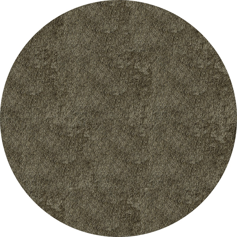 4'X4' Solid Tufted Round Accent Rug Gray - Momeni